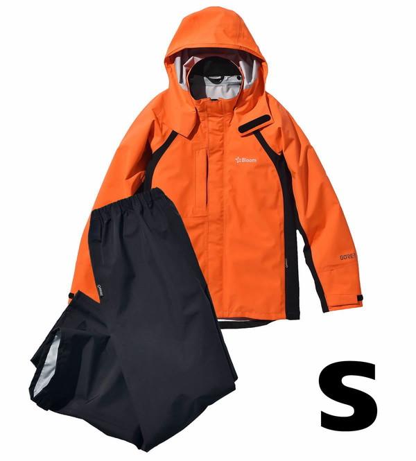 【エントリーP3 マイカー割】田中産業・ゴアテックス・ブルーム ウェア フラッシュオレンジS                 ・上下セット・BW67635