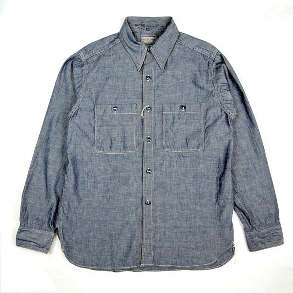 COLIMBO ZV-0301 Jacktar Blue Combination SHIRT ワークシャツ コリンボ シャンブレー