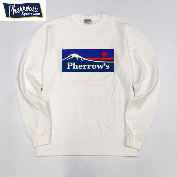 フェローズ PHERROWS メーカー公式ショップ 21W-PLT3 ヘビーウエイトコットンロンTEE 本物◆ 長袖 アウトドア キャンプ