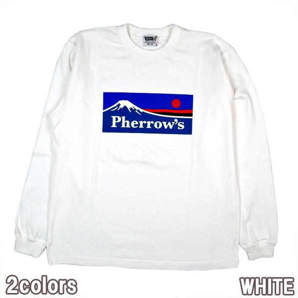 PHERROWS 20W-PLT3 フェローズ 最新号掲載アイテム 高級な ロゴ マウンテン 長袖 アウトドア Tシャツ