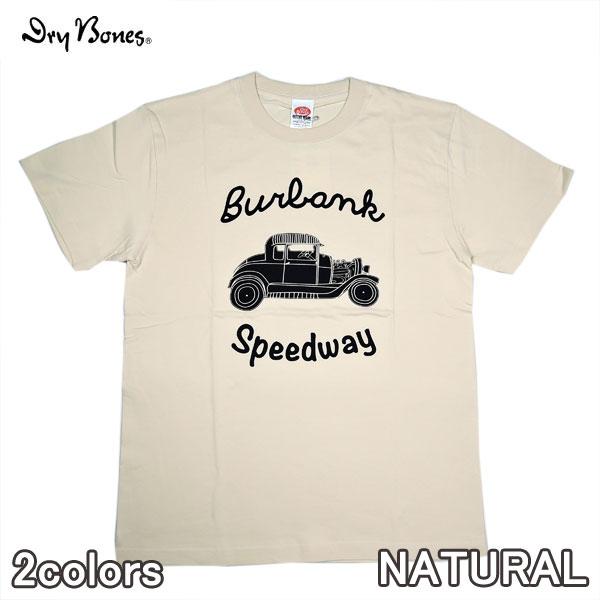 """宅送 メール便対応商品 クリックポスト オンラインショッピング ドライボーンズ Dry Bones PT-801 Print T-Shirt """"Burbank Tシャツ Speedway""""半袖 夏 カットソー"""