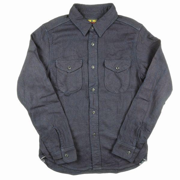 UES 501655 INDIGOHEAVY NEL SHIRTS ウエス インディゴヘビーネルシャツ
