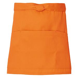 ショッピング ■キレイなショートエプロン 光触媒加工 MEN'S LADIES オレンジ フリー 20色 特価キャンペーン