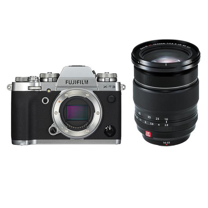 《新品》FUJIFILM (フジフイルム) X-T3 シルバー+フジノン XF16-55mm F2.8 R LM WRセット 〔マップカメラオリジナルセット〕[ ミラーレス一眼カメラ | デジタル一眼カメラ | デジタルカメラ ] 【KK9N0D18P】