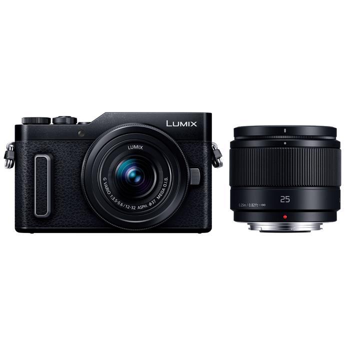《新品》Panasonic (パナソニック) LUMIX DC-GF10W ダブルレンズキット ブラック[ ミラーレス一眼カメラ   デジタル一眼カメラ   デジタルカメラ ]【KK9N0D18P】