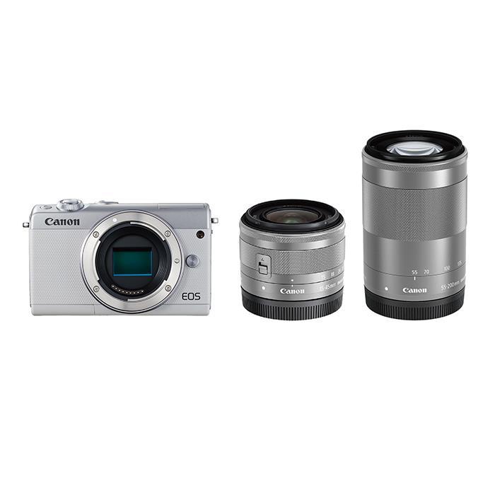 《新品》 Canon (キヤノン) EOS M100 ダブルズームキット ホワイト [ ミラーレス一眼カメラ | デジタル一眼カメラ | デジタルカメラ ] 【KK9N0D18P】