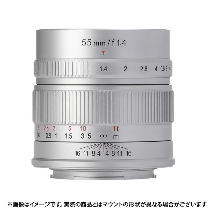 《新品》 七工匠 (しちこうしょう) 7artisans 55mm F1.4 (キヤノンEF-M用) シルバー[ Lens | 交換レンズ ]【KK9N0D18P】