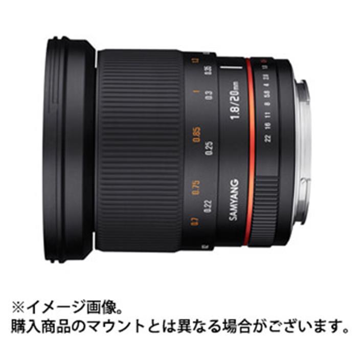 《新品》 SAMYANG (サムヤン) 20mm F1.8 ED AS UMC (キヤノン用) [ Lens | 交換レンズ ]【KK9N0D18P】〔メーカー取寄品〕