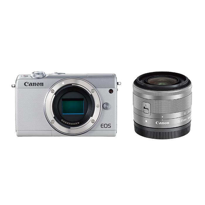 《新品》 Canon (キヤノン) EOS M100 EF-M15-45 IS STM レンズキット ホワイト [ ミラーレス一眼カメラ | デジタル一眼カメラ | デジタルカメラ ] 【KK9N0D18P】