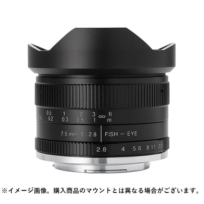 《新品》 七工匠 (しちこうしょう) 7Artisans 7.5mm F2.8 Fish-eye II ブラック (フジフイルムX用)[ Lens | 交換レンズ ]【KK9N0D18P】
