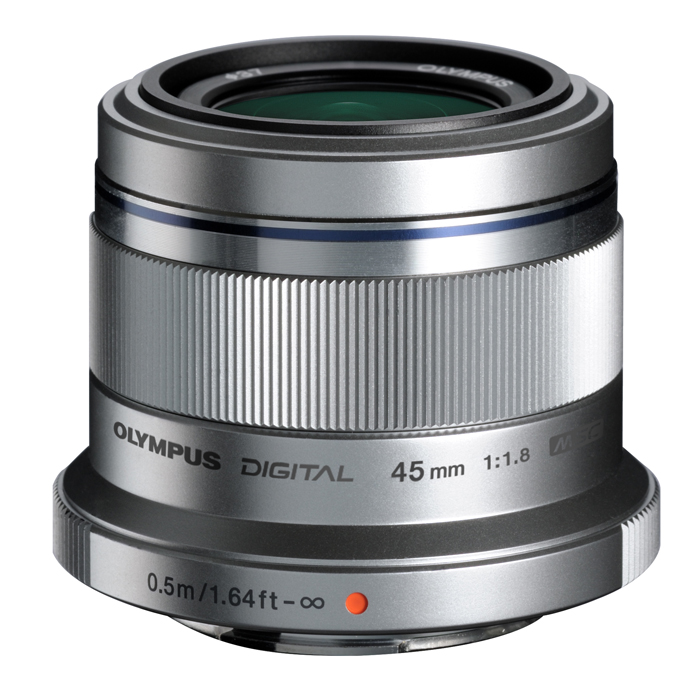 【あす楽】《新品》 OLYMPUS(オリンパス) M.ZUIKO DIGITAL 45mm F1.8 シルバー(マイクロフォーサーズ)[ Lens | 交換レンズ ]〔レンズフード別売〕【KK9N0D18P】