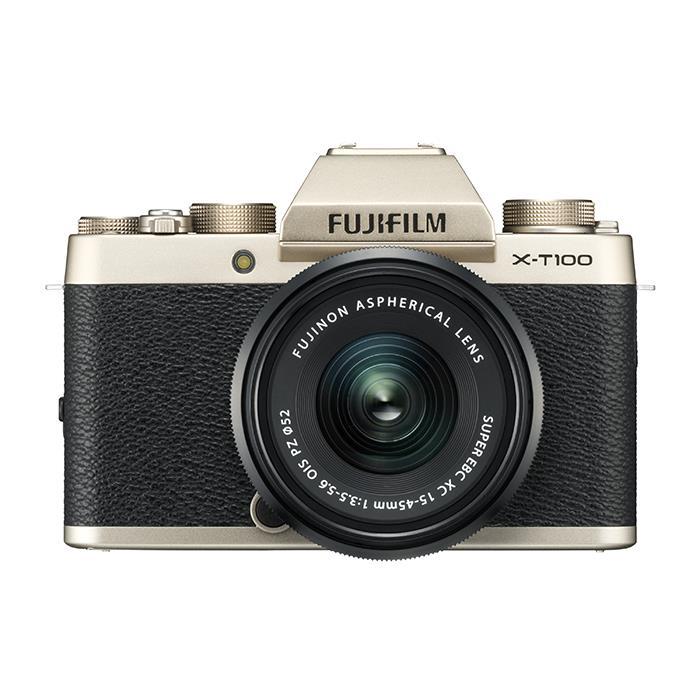 《新品》 FUJIFILM (フジフイルム) X-T100 レンズキット シャンパンゴールド[ ミラーレス一眼カメラ | デジタル一眼カメラ | デジタルカメラ ] 【KK9N0D18P】