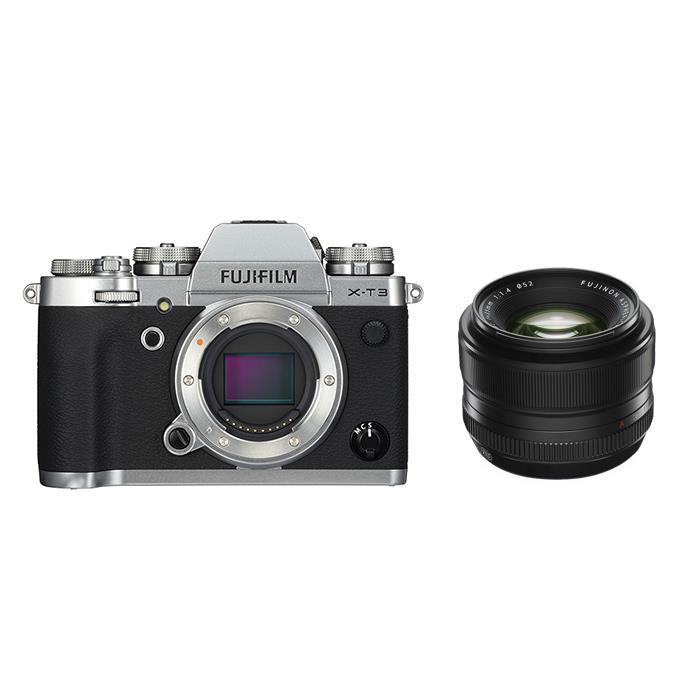 《新品》FUJIFILM (フジフイルム) X-T3 シルバー+フジノン XF 35mm F1.4 Rセット 〔マップカメラオリジナルセット〕[ ミラーレス一眼カメラ | デジタル一眼カメラ | デジタルカメラ ] 【KK9N0D18P】