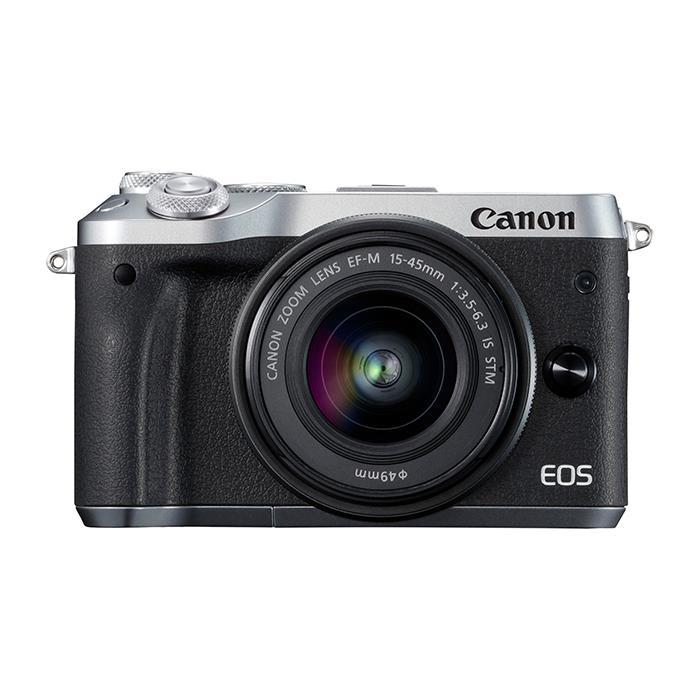 《新品》 Canon (キヤノン) EOS M6 EF-M15-45 IS STM レンズキット シルバー[ ミラーレス一眼カメラ   デジタル一眼カメラ   デジタルカメラ ]【KK9N0D18P】