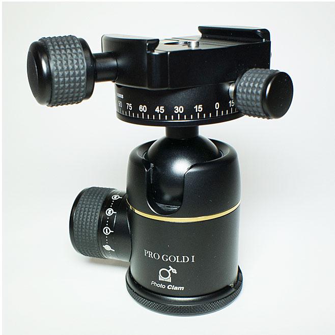 【あす楽】《新品アクセサリー》 photoclam(フォトクラム) 34mm プレミアム ボールヘッド雲台 Pro Gold I Easy PQRS ブラック【特価品/在庫限り】〔アルカスイス互換〕【KK9N0D18P】