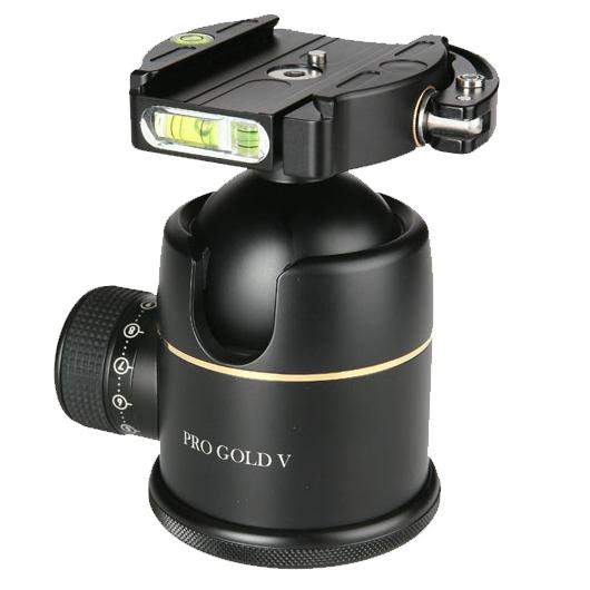 【あす楽】《新品アクセサリー》 photoclam(フォトクラム) 50mm プレミアム ボールヘッド雲台 Pro Gold V Easy QR ブラック【特価品/在庫限り】〔アルカスイス互換〕【KK9N0D18P】
