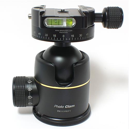 【あす楽】《新品アクセサリー》 photoclam(フォトクラム) 50mm プレミアム ボールヘッド雲台 Pro Gold V Easy PQRS ブラック【特価品/在庫限り】〔アルカスイス互換〕【KK9N0D18P】