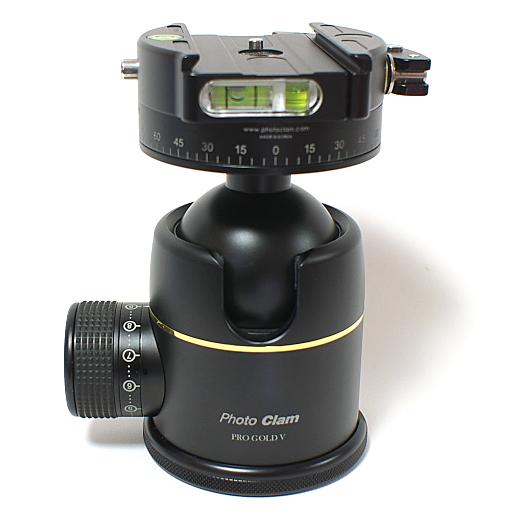【あす楽】《新品アクセサリー》 photoclam(フォトクラム) 50mm プレミアム ボールヘッド雲台 Pro Gold V Easy PQR ブラック【KK9N0D18P】