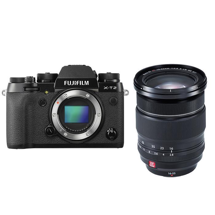 《新品》 FUJIFILM (フジフイルム) X-T2 + XF16-55mm F2.8 R LM WRセット 【¥10,000-キャッシュバック対象/対象商品:XF16-55mm】〔マップカメラオリジナルセット〕【KK9N0D18P】