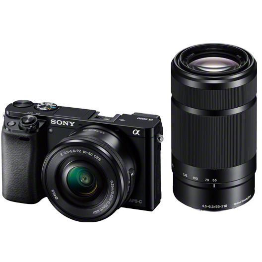 《新品》 SONY(ソニー) α6000ダブルズームレンズキット ILCE-6000Y B ブラック [ ミラーレス一眼カメラ | デジタル一眼カメラ | デジタルカメラ ]【KK9N0D18P】