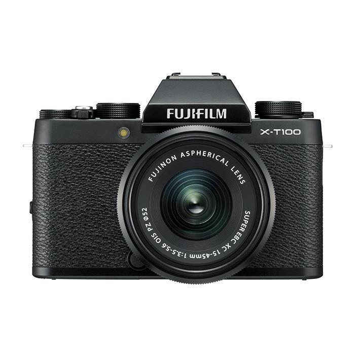 《新品》 FUJIFILM (フジフイルム) X-T100 レンズキット ブラック[ ミラーレス一眼カメラ | デジタル一眼カメラ | デジタルカメラ ]【KK9N0D18P】【発売記念キャンペーン対象】