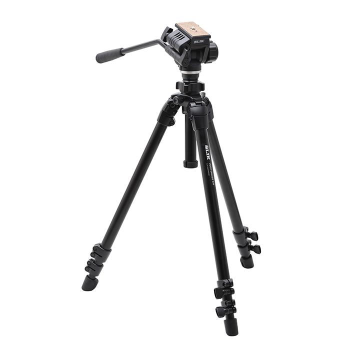 《新品アクセサリー》 SLIK (スリック) 動画用中型アルミ3段三脚 ビデオグランデ II N ※メーカーからの配送となります。~送料無料~【当社購入特典 メーカー2年保証付き】【KK9N0D18P】