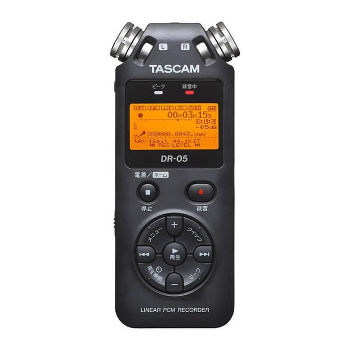 《新品アクセサリー》 TASCAM (タスカム) 24bit/96kHz対応リニアPCMレコーダー DR-05 VERSION2-JJ〔メーカー取寄品〕【KK9N0D18P】
