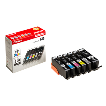 《新品アクセサリー》 Canon インクタンク BCI-351(BK/C/M/Y/GY)+350 6色マルチパック【KK9N0D18P】