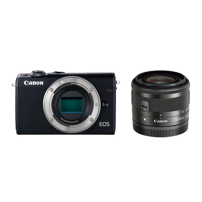 《新品》 Canon (キヤノン) EOS M100 EF-M15-45 IS STM レンズキット ブラック[ ミラーレス一眼カメラ | デジタル一眼カメラ | デジタルカメラ ] 【KK9N0D18P】