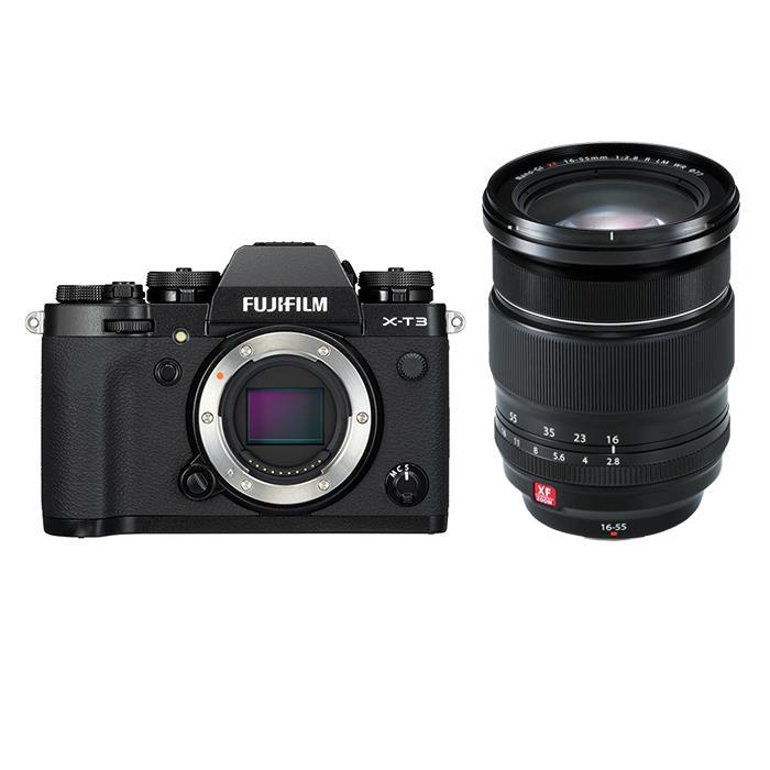 《新品》FUJIFILM (フジフイルム) X-T3 ブラック+フジノン XF16-55mm F2.8 R LM WRセット〔マップカメラオリジナルセット〕