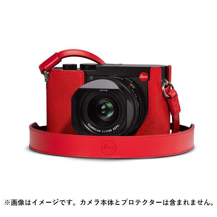 《新品アクセサリー》 Leica (ライカ) Q2用 レザーストラップ レッド 発売予定日:2019年5月【KK9N0D18P】