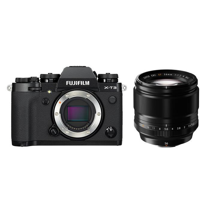 《新品》FUJIFILM (フジフイルム) X-T3 ブラック+フジノン XF 56mm F1.2 Rセット 〔マップカメラオリジナルセット〕[ ミラーレス一眼カメラ | デジタル一眼カメラ | デジタルカメラ ] 【KK9N0D18P】