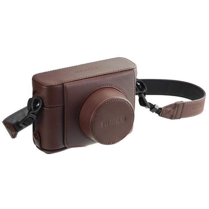 《新品アクセサリー》 FUJIFILM (フジフィルム) レザーケース LC-X100F ブラウン【KK9N0D18P】