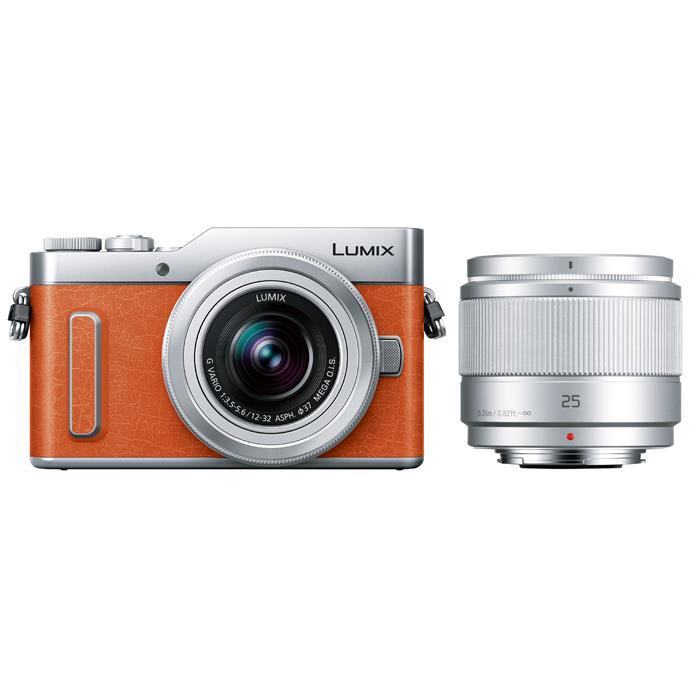 《新品》Panasonic (パナソニック) LUMIX DC-GF10W ダブルレンズキット オレンジ[ ミラーレス一眼カメラ | デジタル一眼カメラ | デジタルカメラ ]【KK9N0D18P】