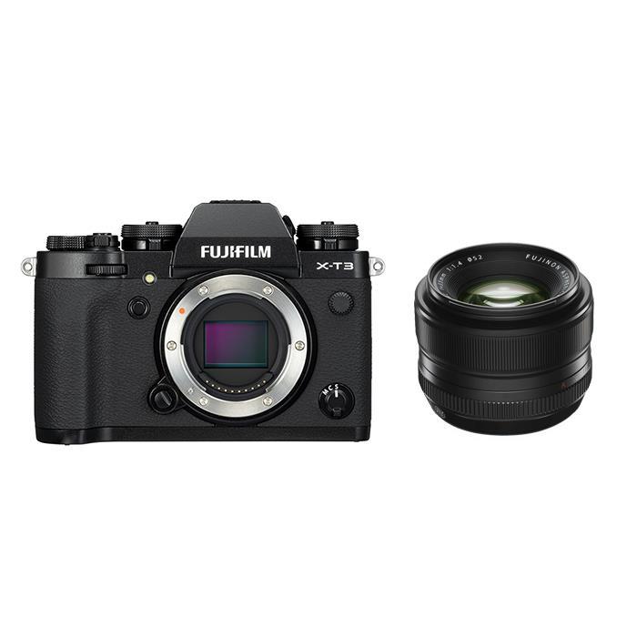 《新品》FUJIFILM (フジフイルム) X-T3 ブラック+フジノン XF 35mm F1.4 Rセット 〔マップカメラオリジナルセット〕[ ミラーレス一眼カメラ | デジタル一眼カメラ | デジタルカメラ ] 【KK9N0D18P】