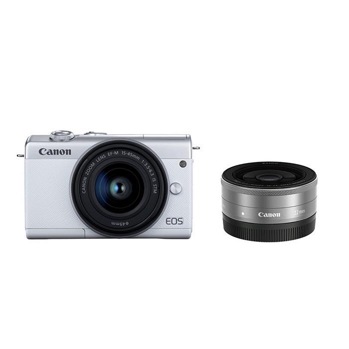 《新品》 Canon (キヤノン) EOS M200 ダブルレンズキット ホワイト [ ミラーレス一眼カメラ | デジタル一眼カメラ | デジタルカメラ ]【KK9N0D18P】【キャッシュバック¥5,000-対象】