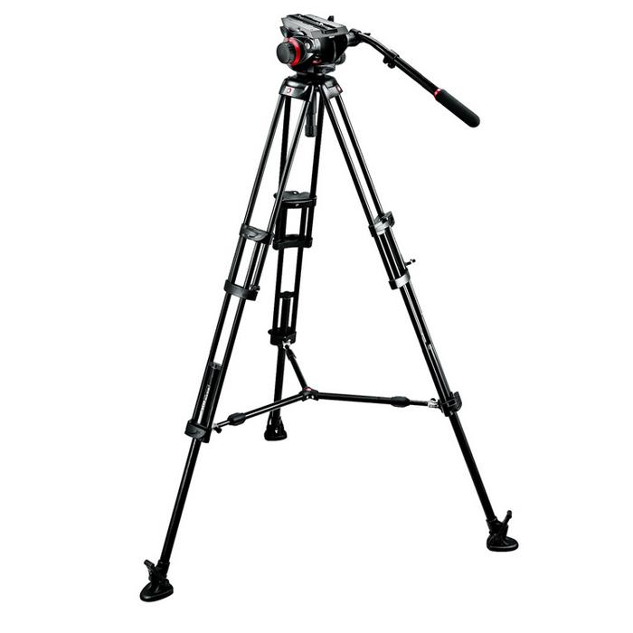 《新品アクセサリー》 Manfrotto(マンフロット) ビデオキット ツインMSタイプ 504HD,546BK【KK9N0D18P】〔メーカー取寄品〕