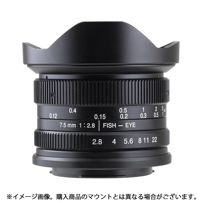 《新品》 七工匠 (しちこうしょう) 7artisans 7.5mm F2.8 Fish-eye (フジX用) ブラック[ Lens | 交換レンズ ]【KK9N0D18P】