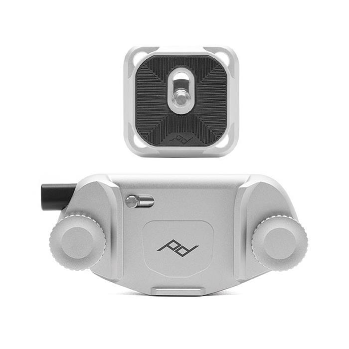 《新品アクセサリー》 peak design (ピークデザイン) キャプチャーカメラクリップ V3 スタンダードプレート付き シルバー〔納期未定・予約商品〕 【KK9N0D18P】