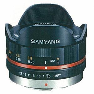 《新品》 SAMYANG(サムヤン) 7.5mm F3.5 フィッシュアイ(マイクロフォーサーズ用)ブラック[ Lens | 交換レンズ ]【KK9N0D18P】【¥3,000-キャッシュバック対象】