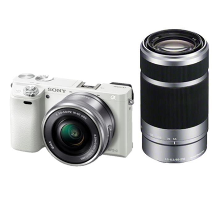《新品》 SONY(ソニー) α6000ダブルズームレンズキット ILCE-6000Y W ホワイト 【¥10,000-キャッシュバック対象】[ ミラーレス一眼カメラ | デジタル一眼カメラ | デジタルカメラ ]【KK9N0D18P】