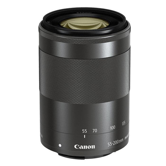 《新品》 Canon(キヤノン) EF-M55-200mm F4.5-6.3 IS STM ブラック[ Lens | 交換レンズ ]〔レンズフード別売〕【KK9N0D18P】