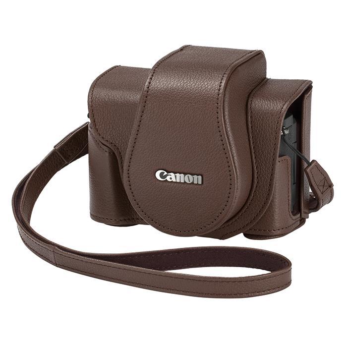 《新品アクセサリー》 Canon (キヤノン) ソフトケース CSC-G10 ブラウン 〔メーカー取寄品〕【KK9N0D18P】 [ カメラケース ]