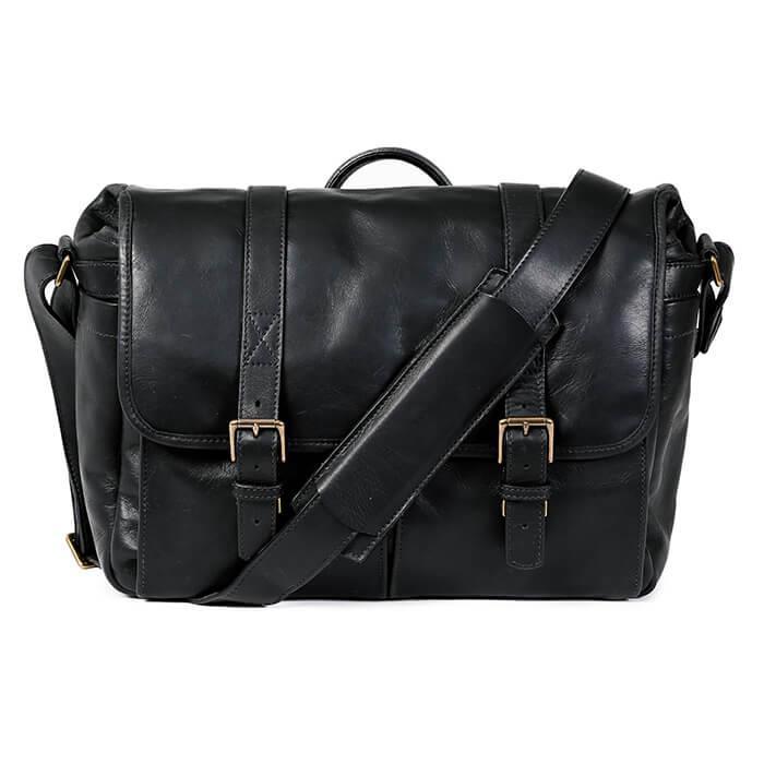 《新品アクセサリー》 ONA (オーエヌエー) メッセンジャーバッグ Leather Brixton ブラック 【KK9N0D18P】