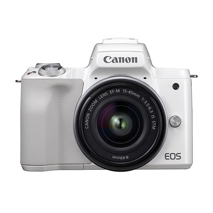 《新品》 Canon (キヤノン) EOS Kiss M EF-M15-45 IS STM レンズキット ホワイト【¥5,000-キャッシュバック対象】[ ミラーレス一眼カメラ | デジタル一眼カメラ | デジタルカメラ ]【KK9N0D18P】