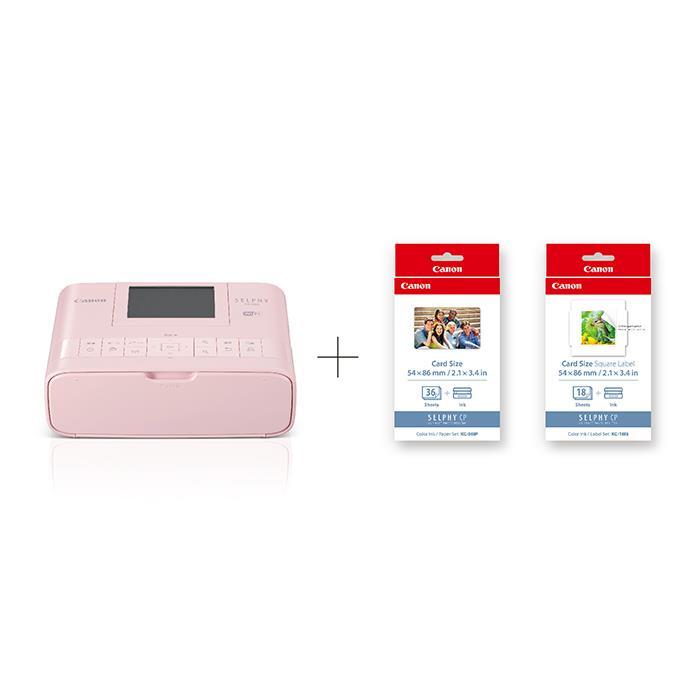 《新品》 Canon (キヤノン) コンパクトフォトプリンター SELPHY CP1300 カードプリントキット ピンク 【KK9N0D18P】