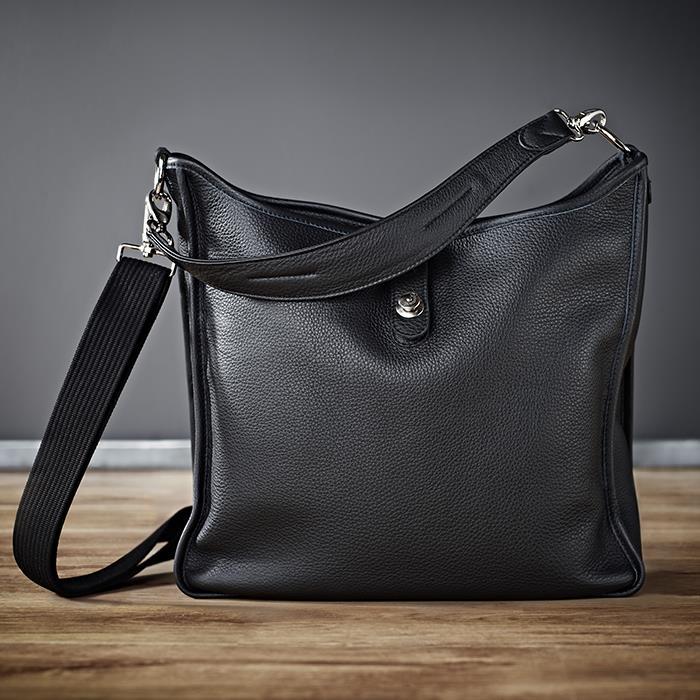 《新品アクセサリー》 Oberwerth (オーヴァーバース) レディースバッグ Kate シルバー×ブラック [バックルボタン:シルバー/牛革:ブラック]〔メーカー取寄品〕【KK9N0D18P】