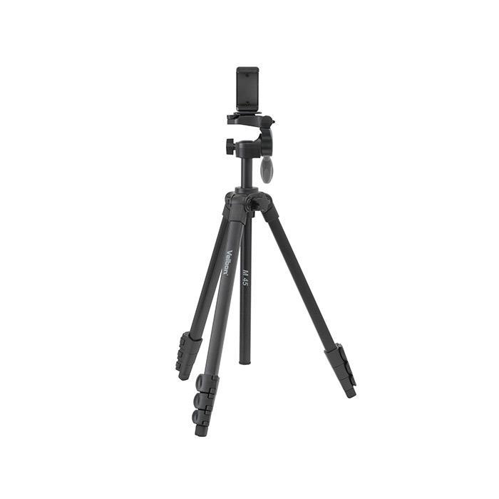 代引き手数料無料 半額 《新品アクセサリー》 Velbon 爆買い新作 ベルボン ファミリー4段三脚 セット KK9N0D18P スマートフォンホルダー M45