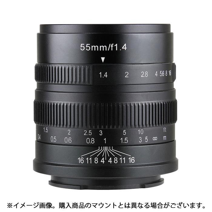 《新品》 七工匠 (しちこうしょう) 7artisans 55mm F1.4 (フジX用) ブラック[ Lens | 交換レンズ ]【KK9N0D18P】