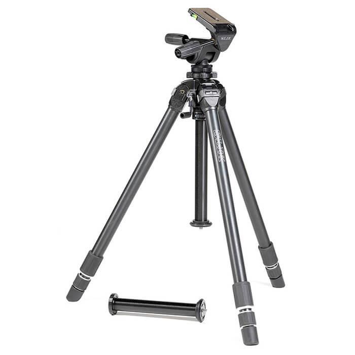 《新品アクセサリー》 SLIK (スリック) 超大型アルミ3段三脚 ザ プロフェッショナル NS 【MapCamera購入特典!メーカー保証2年付き】[最大パイプ径: 36mm / 最大耐荷重: 10kg ]【KK9N0D18P】